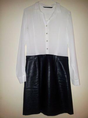 Blusenkleid mit Rock aus Lederimitat von ZARA