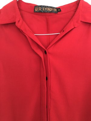 QED London Robe chemisier rouge brique