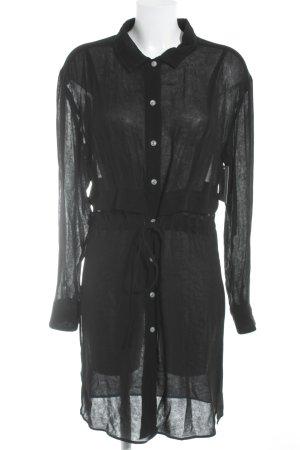 Blusenkleid schwarz Casual-Look