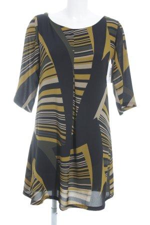 Blusenkleid schwarz-gelb Beach-Look