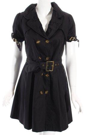 Blusenkleid schwarz-goldfarben klassischer Stil