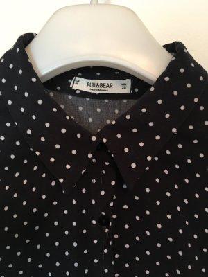 Blusenkleid schwarz-weiß