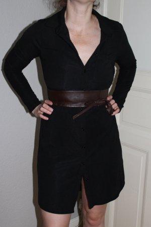 Blusenkleid Urban Outfitters Schwarz Gr. L blogger Kleid Hemdkleid vintage