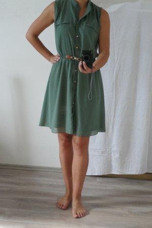 Apricot Blouse Dress khaki polyester