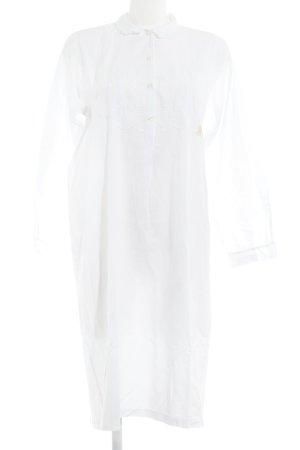 Blusenkleid weiß florales Muster Romantik-Look