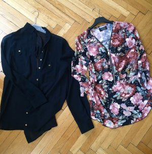 100% Fashion Blouse zwart-roségoud