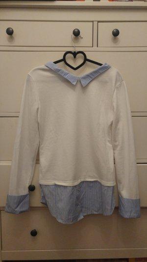 Colloseum Colletto camicia bianco-azzurro