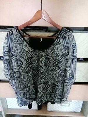 Steilmann Oversized blouse wit-blauw