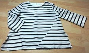 Opus Blouse wit-zwart Polyester