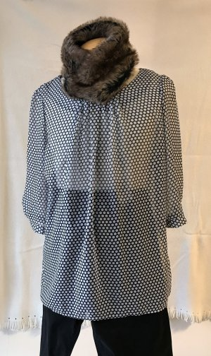 Amy Vermont Blouse zwart-wolwit Polyester
