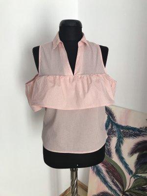 Blusenshirt mit Cut-Out-Ärmeln und Kragen