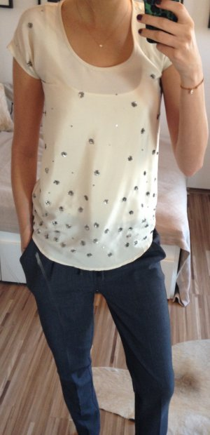 Blusenshirt mit kreativen Pailletendetails