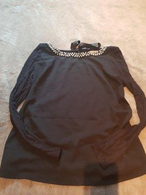 Blusenshirt mit Perlenkragen