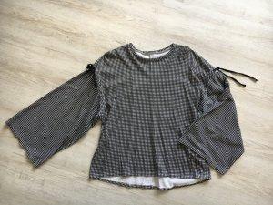 Zara Basic Oversized Shirt black-white