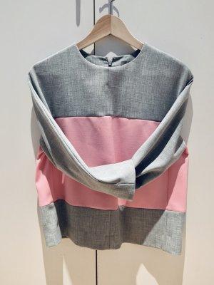 Blusenshirt (neuwertig) Gr. 36 grey/pink