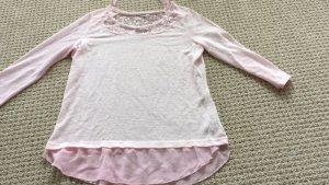 Janina Top extra-large rose clair tissu mixte