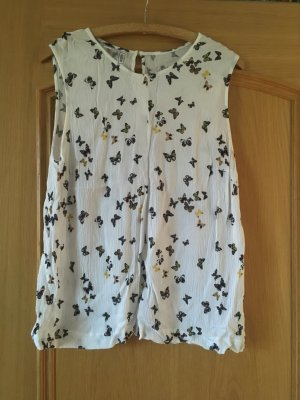 b.p.c. Bonprix Collection Mouwloze blouse wit-zwart
