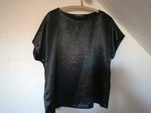 Blusenshirt von Esprit Gr. L, schwarz-glänzend