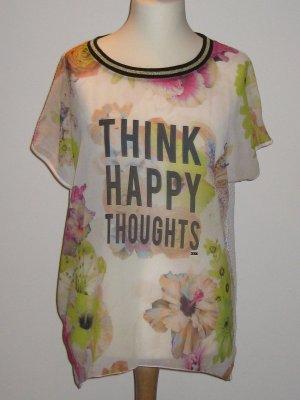 Blusenshirt von Gaudi toller Blumendruck und Netz L