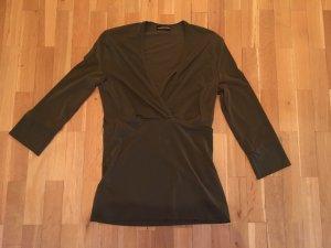 Strenesse Gabriele Strehle T-shirt col en V gris vert polyamide