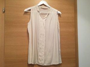 Angela Davis Mouwloze blouse licht beige