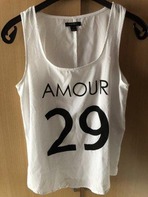 Amisu Blouse topje wit-zwart