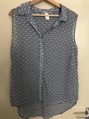 H&M Blusa grigio ardesia-blu fiordaliso