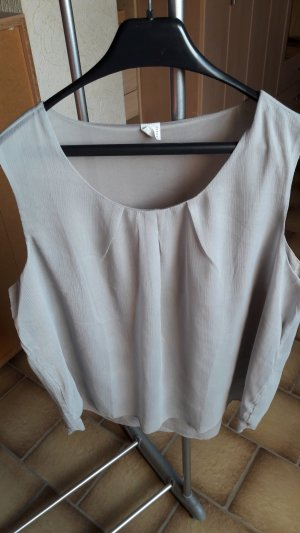 Blouse Top silver-colored-light grey