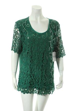 Blusa verde effetto bagnato