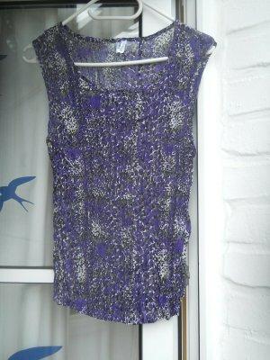 Blusa grigio-lilla