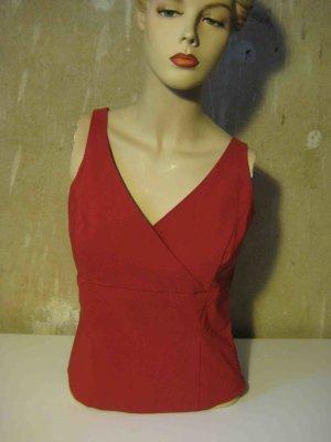 Blusentop MissH in rot, schlichter Stil