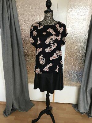 B.young Camicia nero-color oro rosa