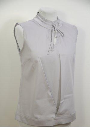 Blusa senza maniche grigio chiaro Tessuto misto
