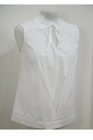 Blouse sans manche blanc tissu mixte