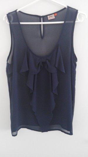 Blusentop nachtblau leicht transparent
