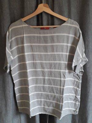 s.Oliver Gestreept shirt lichtgrijs-grijs