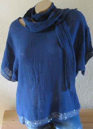 Blusentop Shirt mit Tuch