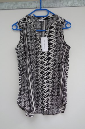 Blusentop Shirt Only Aztekenmuster schwarz weiss Gr. 34 Neu Etikett