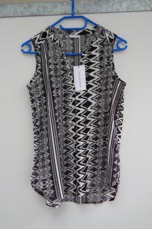 Only Blusa sin mangas negro-blanco
