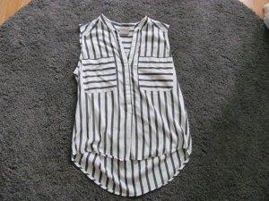 Vero Moda Mouwloze blouse antraciet-wit