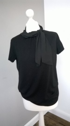 Stand-Up Collar Blouse black polyester