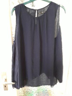 Zara Basic Blusa blu scuro