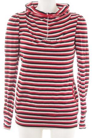 Blutgeschwister Kapuzensweatshirt Streifenmuster Casual-Look