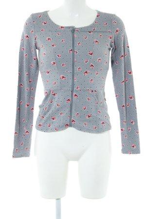 Blutgeschwister Sweat Jacket light grey allover print casual look