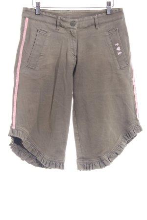 Blutsgeschwister 3/4 Jeans olivgrün-rosé extravaganter Stil
