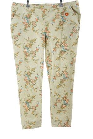 Blutsgeschwister 7/8 Length Trousers flower pattern casual look