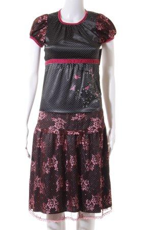 Blutsgeschwister A-Linien Kleid Blumenmuster extravaganter Stil