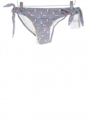 Blutsgeschwister Swimming Trunk slate-gray-red themed print beach look