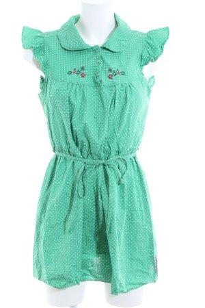 Blutsgeschwister Blouse Dress green spot pattern casual look