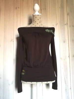 Blutsgeschwister Sweater green-dark brown